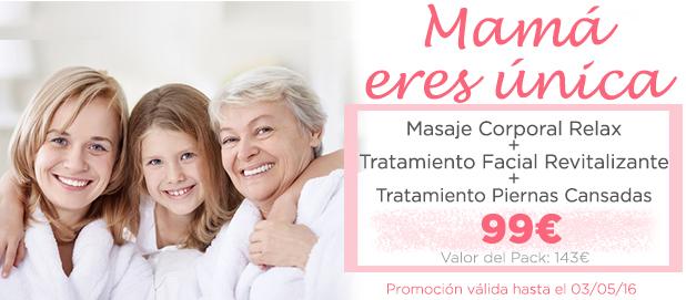 promociones el dia de la madre: relajacion 100%