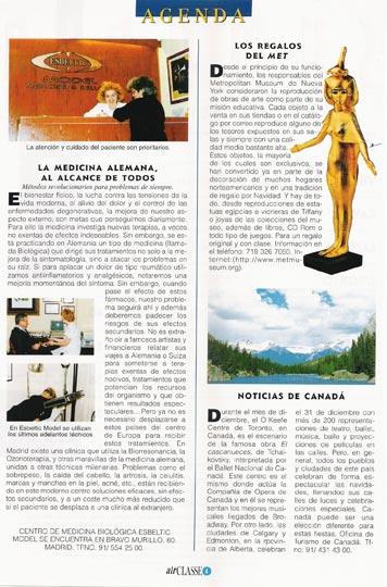 Articulo de la revista Air Classe sobre medicina alemana