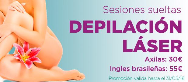 Promoción Depilación Láser sesiones sueltas Madrid Precio