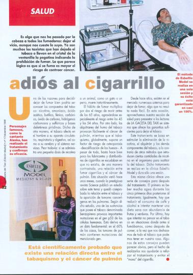 Adiós al Cigarrillo Madrid Precio
