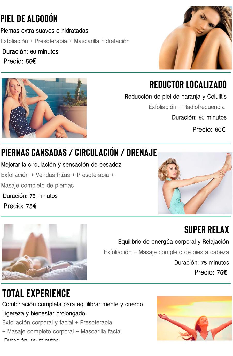 Tratamientos corporales Madrid Precio