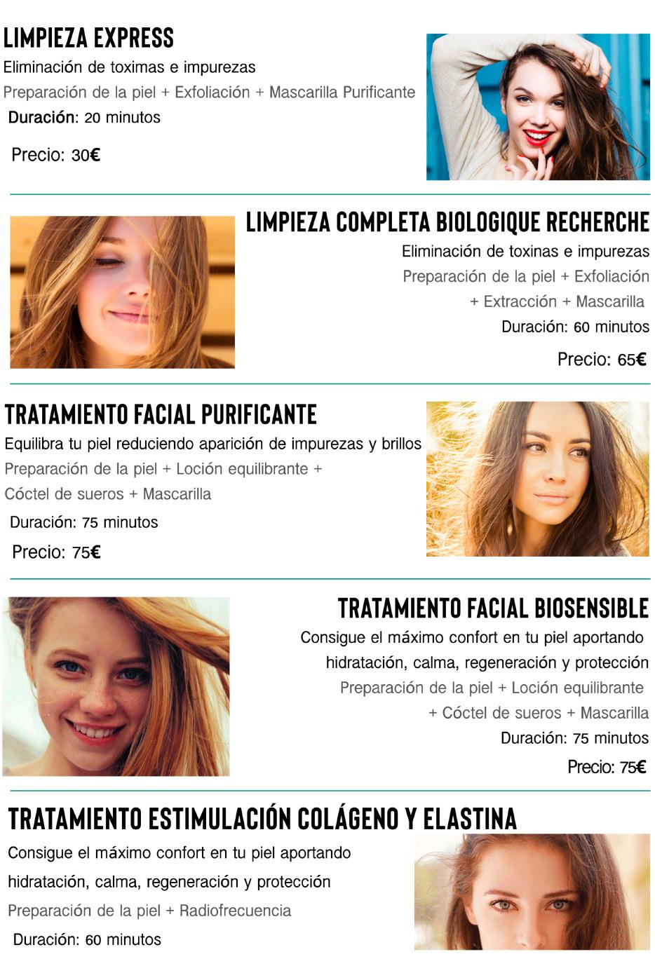 Tratamientos faciales Madrid Precio