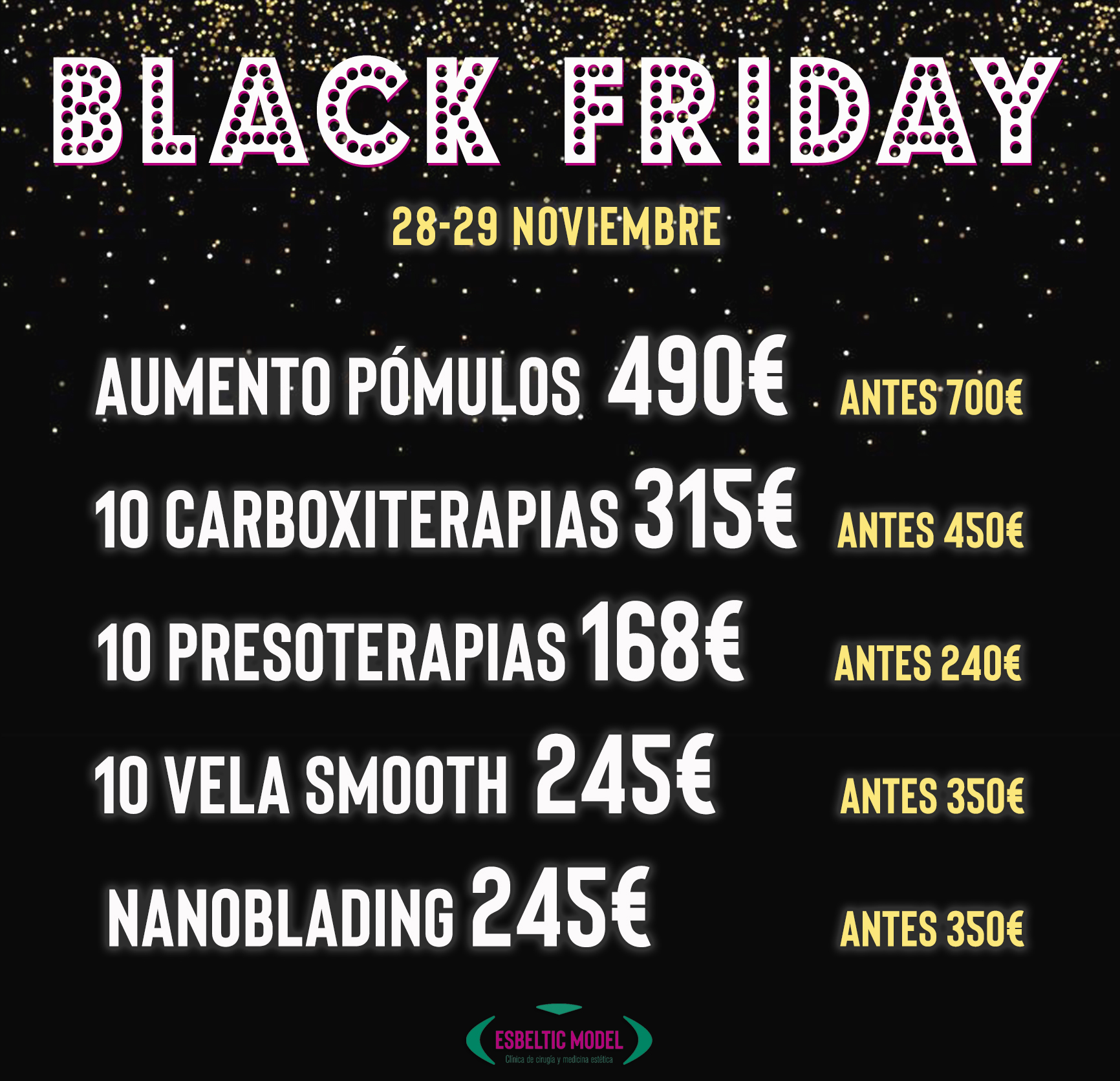 Black Friday Madrid Precio
