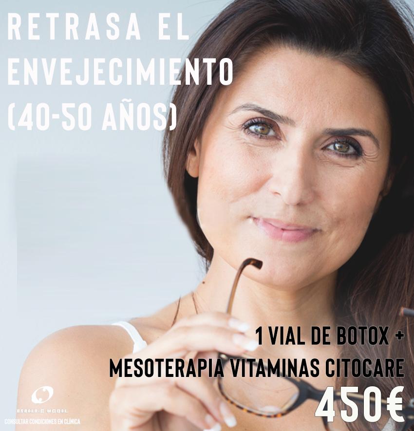 Promoción Especial para retrasar el envejecimiento (40 50 años) Madrid Precio